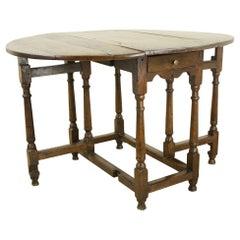 Period Welsh Oak Drop Leaf or Gateleg Table