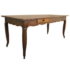 Antique French Louis XV Cherry Dining Table