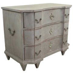 Antique Painted Dutch Serpentine Commode