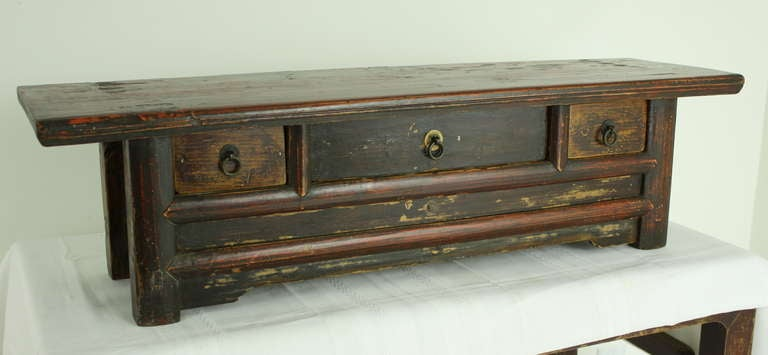antique chinese low table top chest for sale at 1stdibs. Black Bedroom Furniture Sets. Home Design Ideas