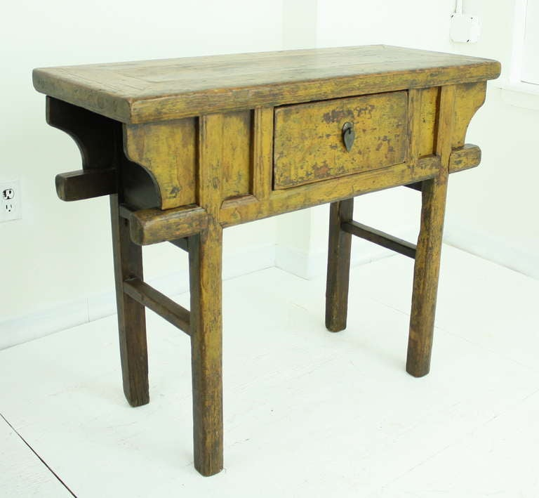 Antique chinese farm console for sale at 1stdibs for Antique chinese tables for sale