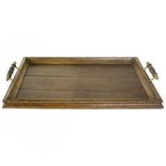 Antique English Oak Tray