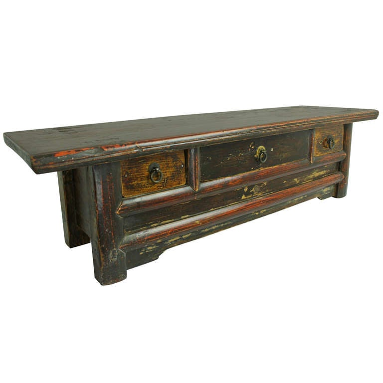 Antique chinese low table top chest for sale at 1stdibs for Antique chinese tables for sale