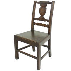 Antique French Oak Side Chair