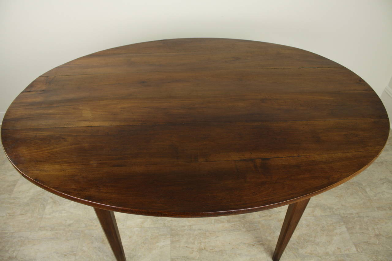 Antique french oval cherry breakfast table at 1stdibs - Antique french dining tables ...