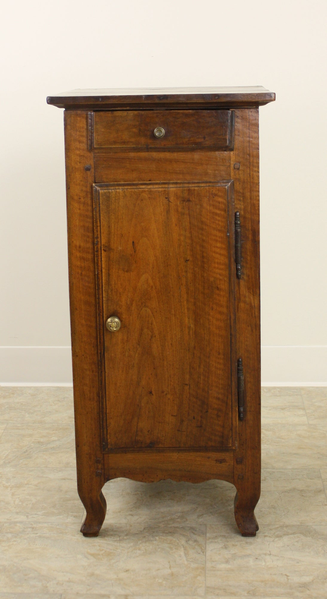 Antique French Walnut Louis XV Side Cabinet In Good Condition For Sale In Port Chester, NY