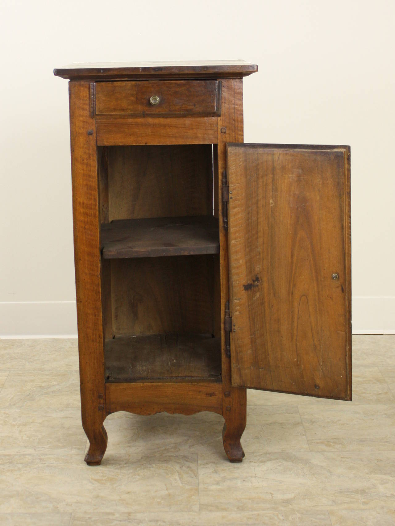 18th Century and Earlier Antique French Walnut Louis XV Side Cabinet For Sale