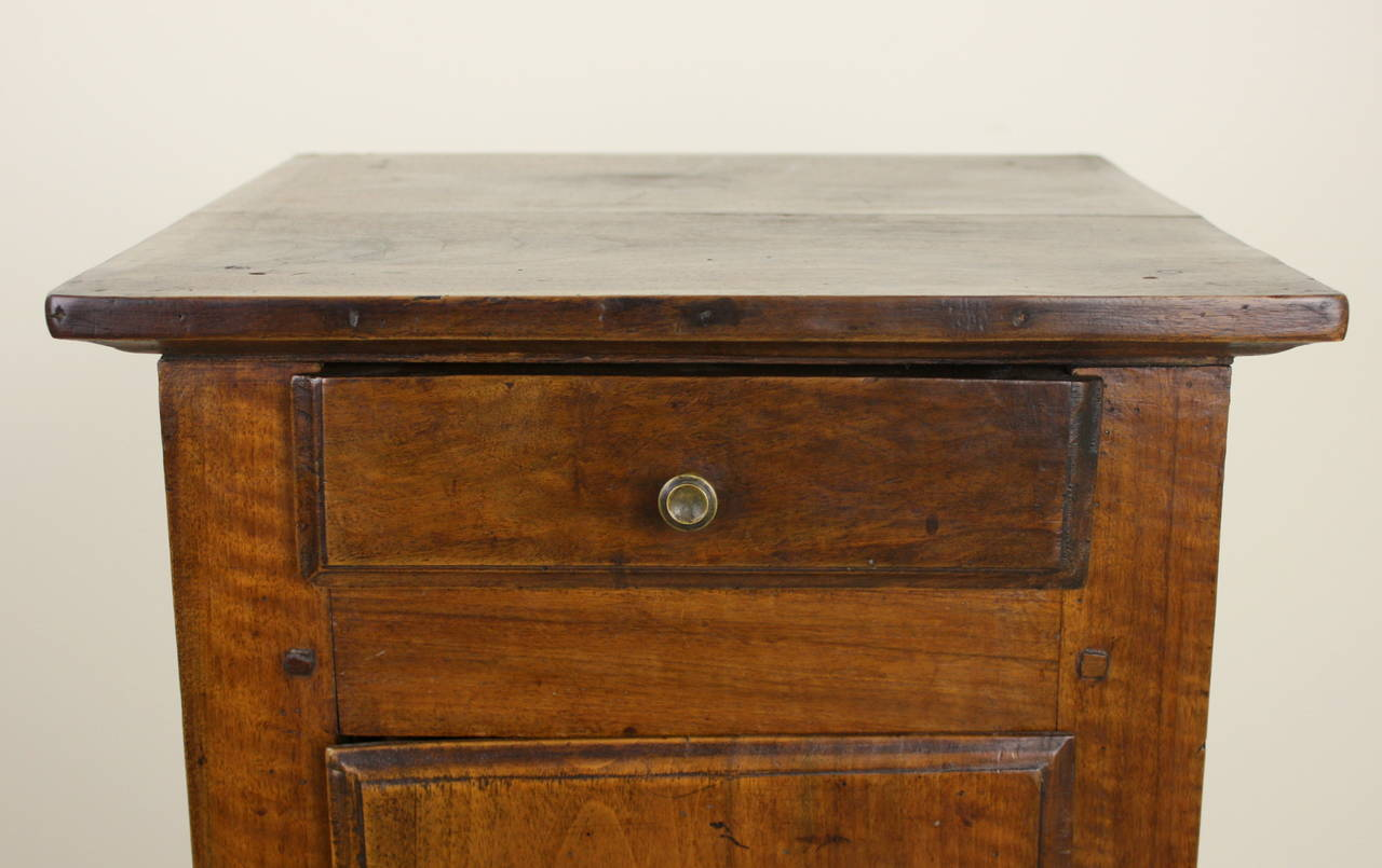 Antique French Walnut Louis XV Side Cabinet For Sale 1