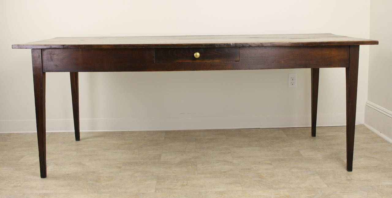 Antique French Chestnut Country Farm Table For Sale At 1stdibs