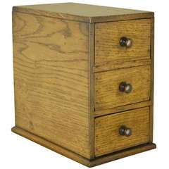 Small Antique English Set of Drawers in Oak