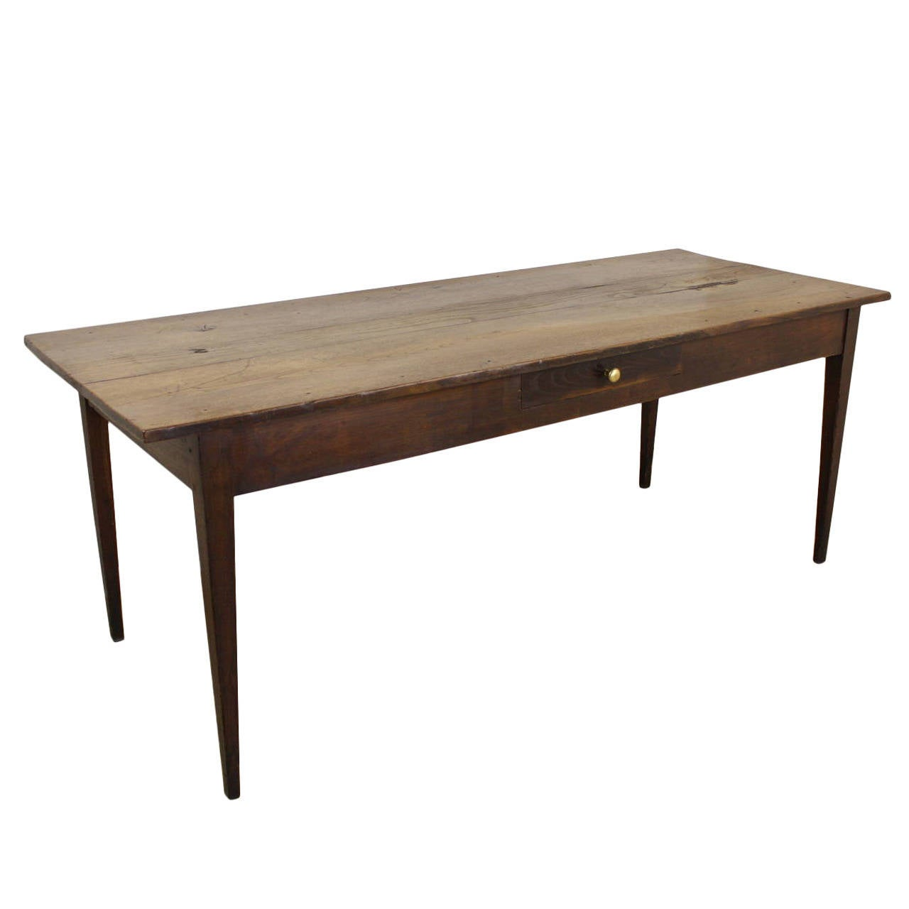 Antique French Chestnut Country Farm Table