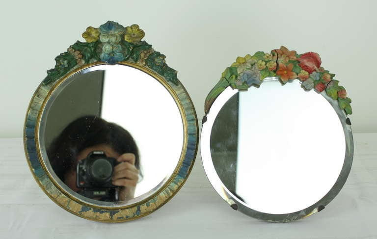 Collection Of Five English Vintage Barbola Mirrors At 1stdibs