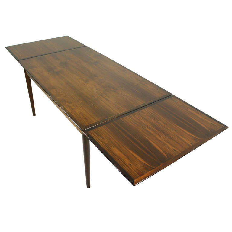 this mid century danish rosewood drawleaf dining table is no longer