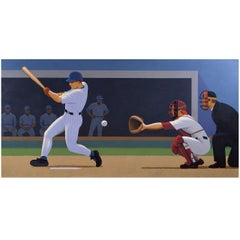 Strike Three, Painting by Lynn Curlee