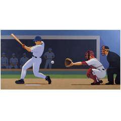 Strike Three, Painting by Lynn Curlee