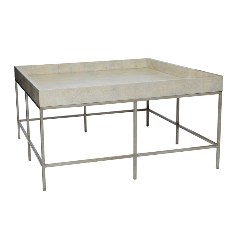 this faux painted shagreen coffee table is no longer available