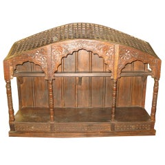 Hand Carved Wood anglo Indian Wall Shelve