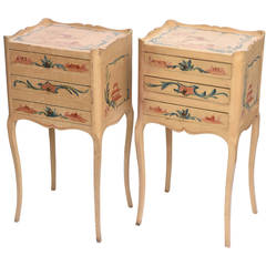 Pair of Vintage Chinoiserie Nightstands