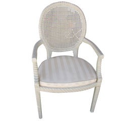Set of Four Caned Oval Back Dining Chairs