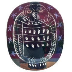 Mat Owl Charger Signed Picasso