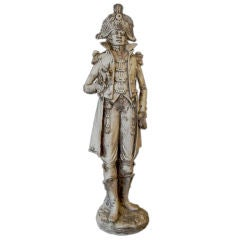 Unusual Terra Cotta Statue of Military Officer