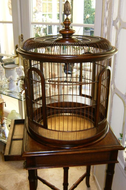 Faux Bamboo Bird Cage Table At 1stdibs