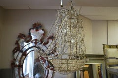 Italian Crystal Ship Chandelier image 2