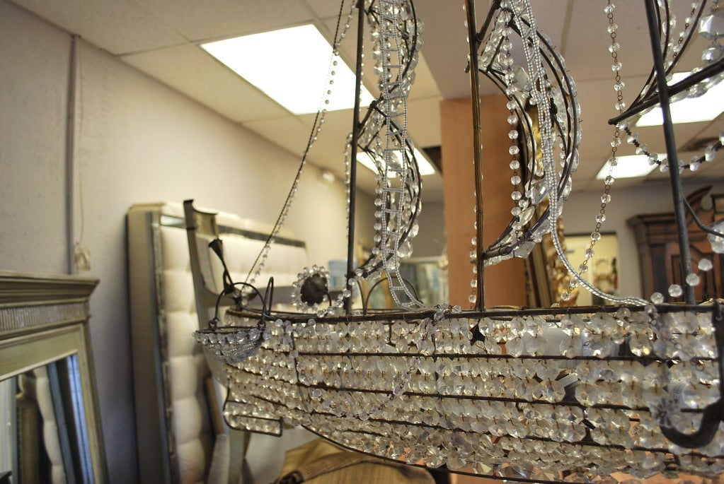 Italian Crystal Ship Chandelier 3