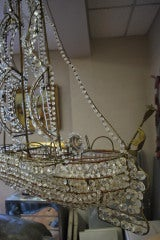 Italian Crystal Ship Chandelier image 6