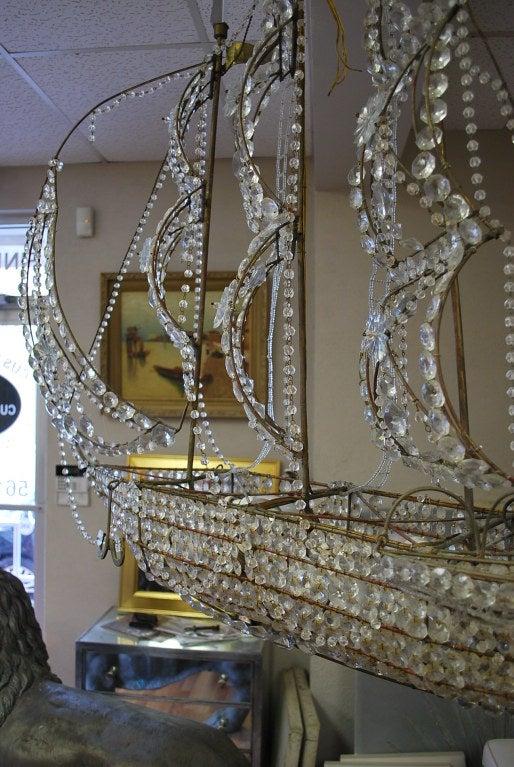 Italian Crystal Ship Chandelier 7