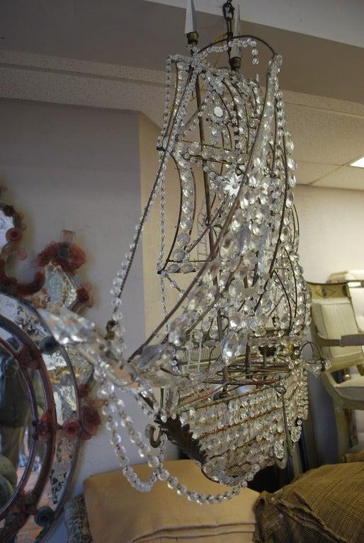 Italian Crystal Ship Chandelier 8