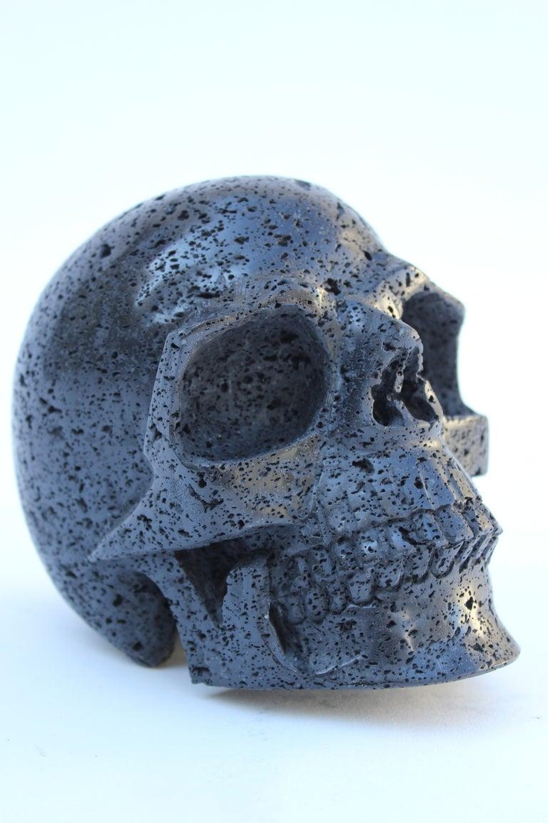 Hand carved lava stone skull at stdibs