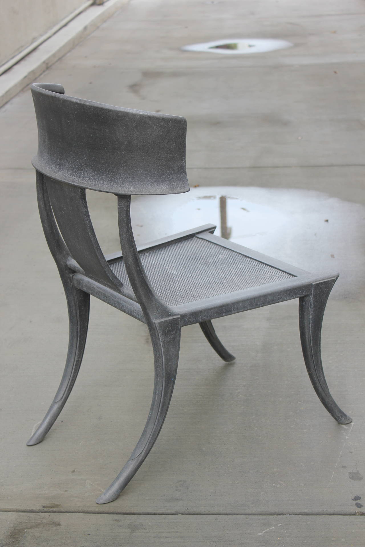 Superieur American Pair Of Michael Taylor Cast Aluminum Klismos Chairs For Sale
