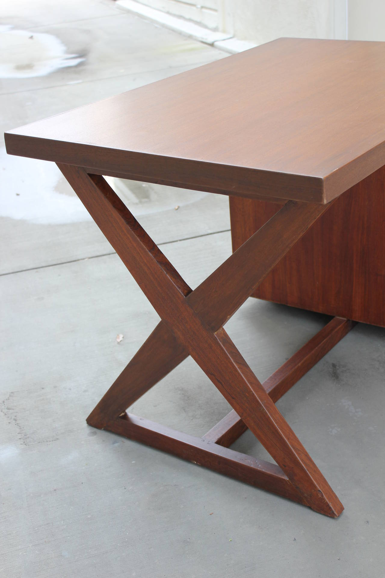 Indian Pierre Jeanneret Bureau of Administration Desk For Sale