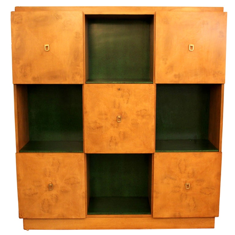 Johan Tapp Burl Sycamore Cabinet / Desk