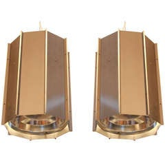 Pair Of Raak Anodized Aluminum Lanterns