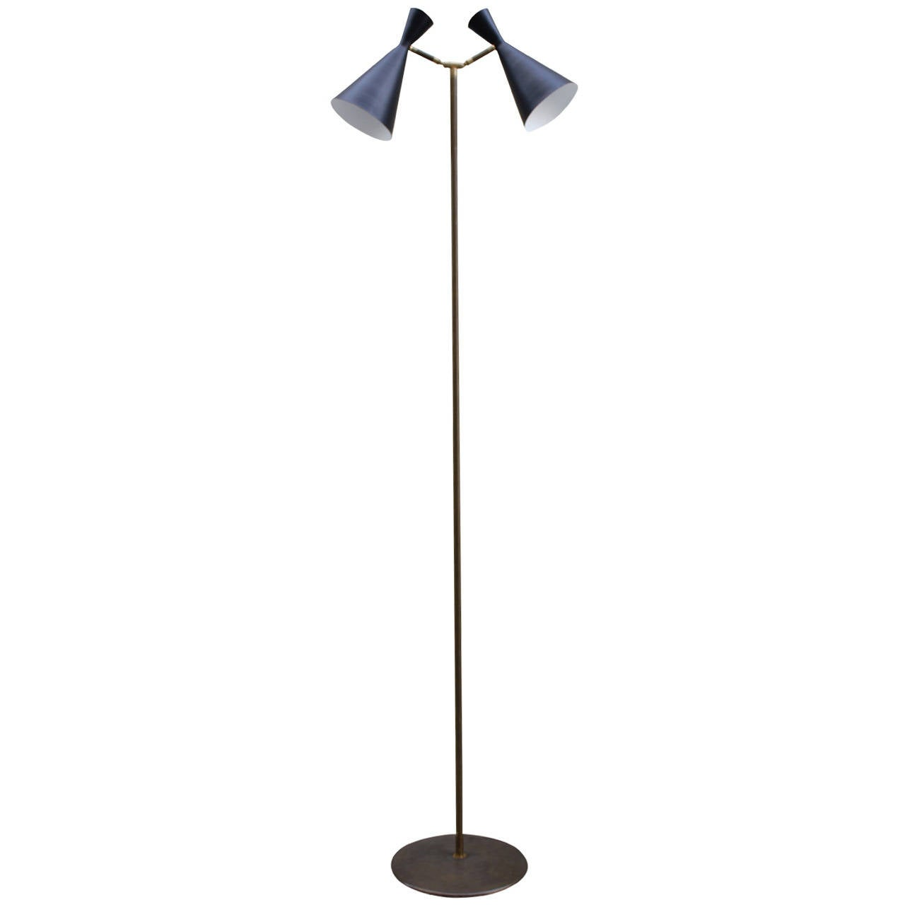 Brass and Metal Floor Lamp