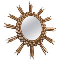 1940s Argentine Starburst Mirror