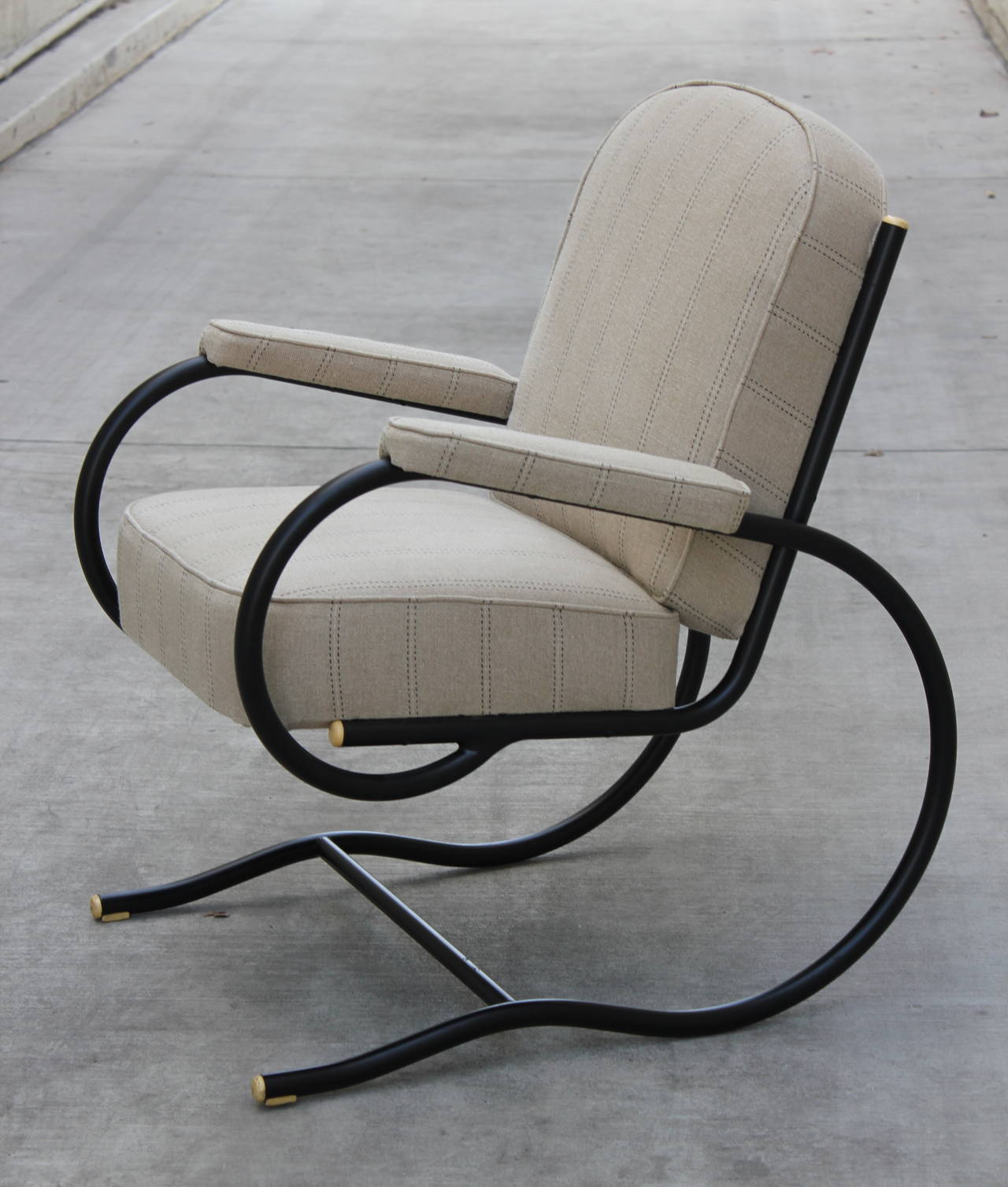 Pair of tubular steel chairs designed by Bastian Spade, France, 1930s. 