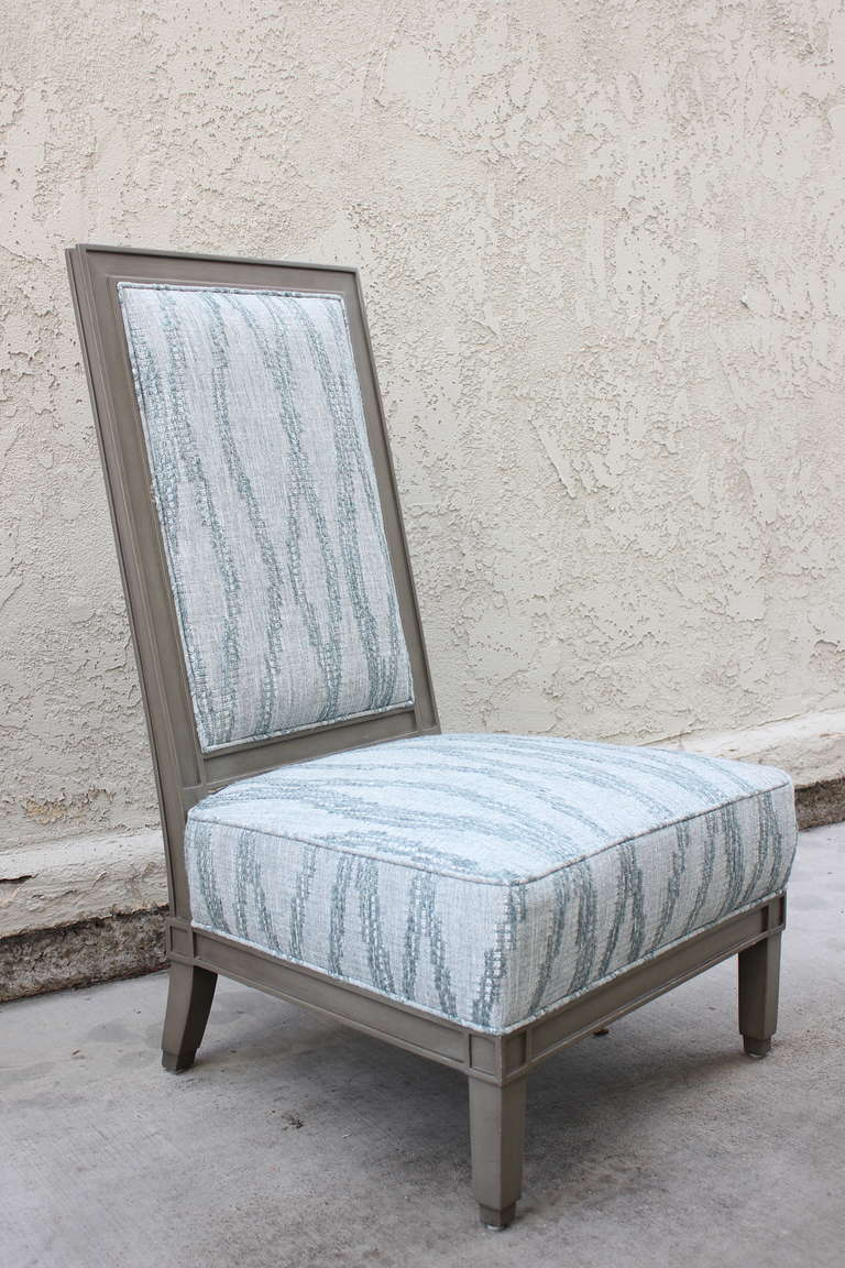 Slipper Chair In The Manner Of Jean Michel Frank For Sale