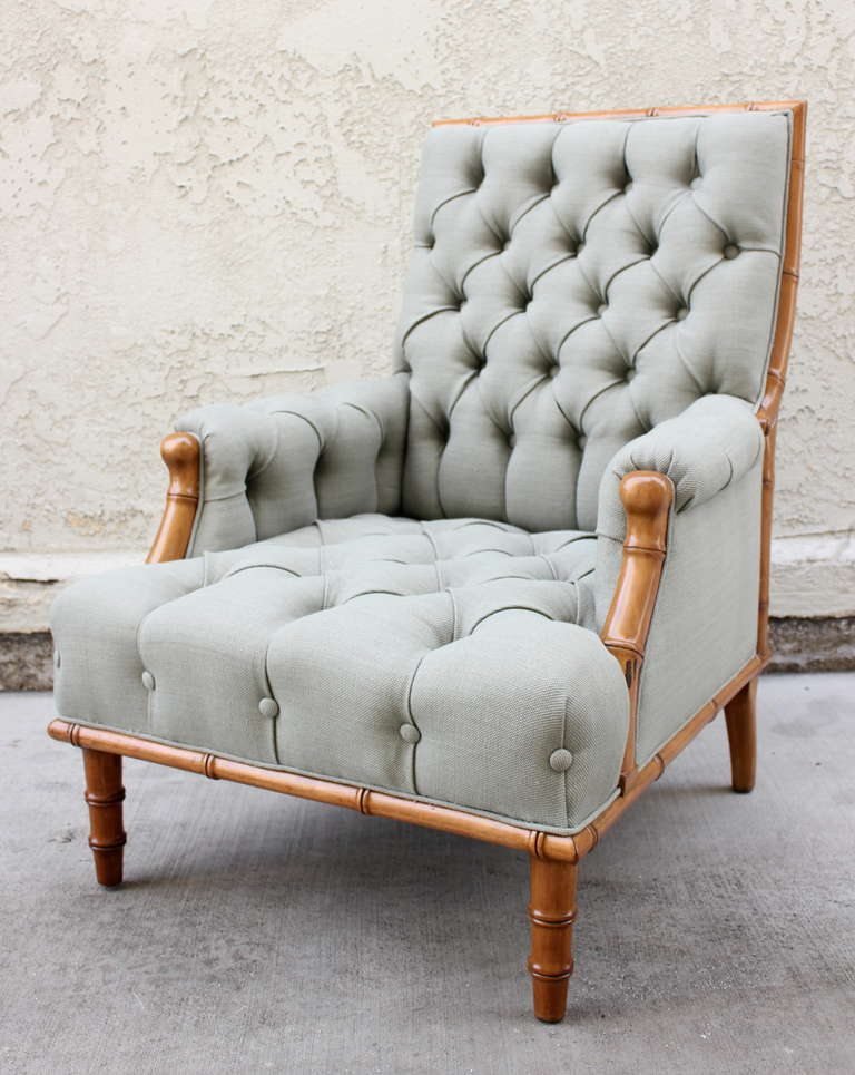 Tufted Arm Chair For Sale At 1stdibs
