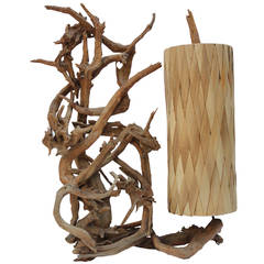 Large California Driftwood Sculptural Lamp