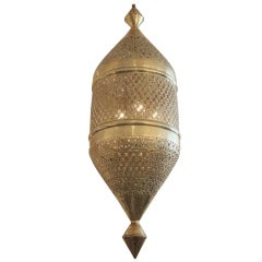 Large 4 Foot Brass Moroccan Lantern