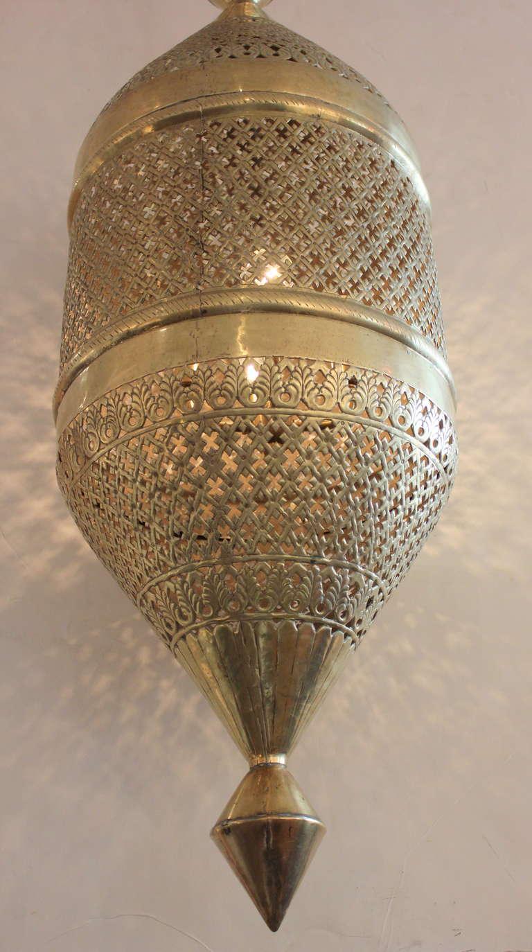 Large 4 Foot Brass Moroccan Lantern At 1stdibs
