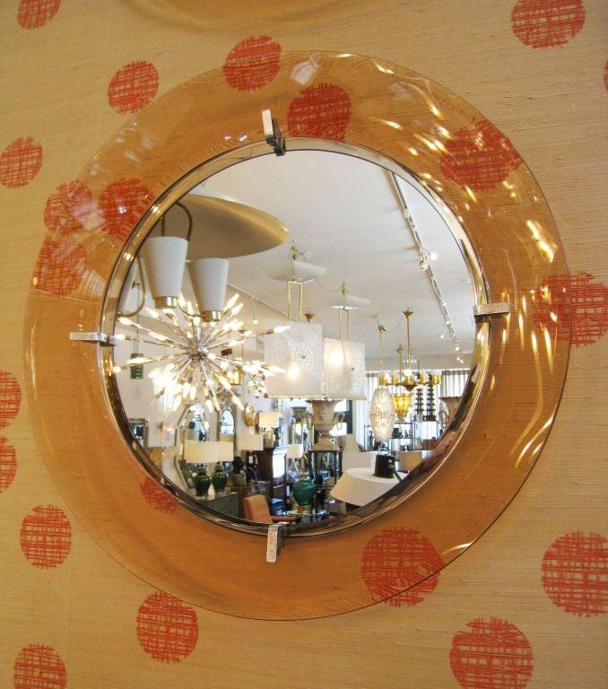 Bent Frame On Glasses : Bent Glass Frame Italian Mirror at 1stdibs