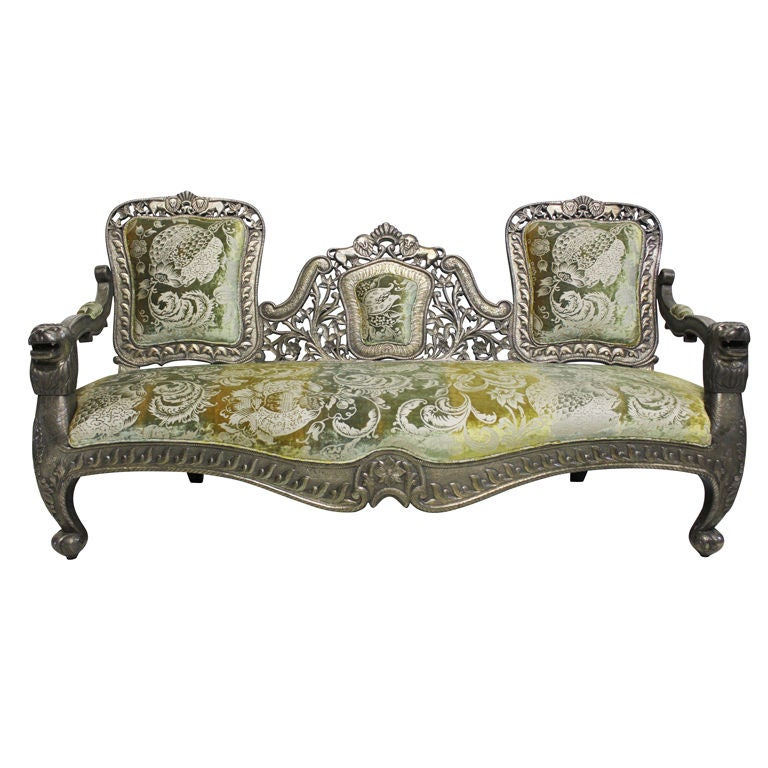 Indian Silver Sofa At 1stdibs