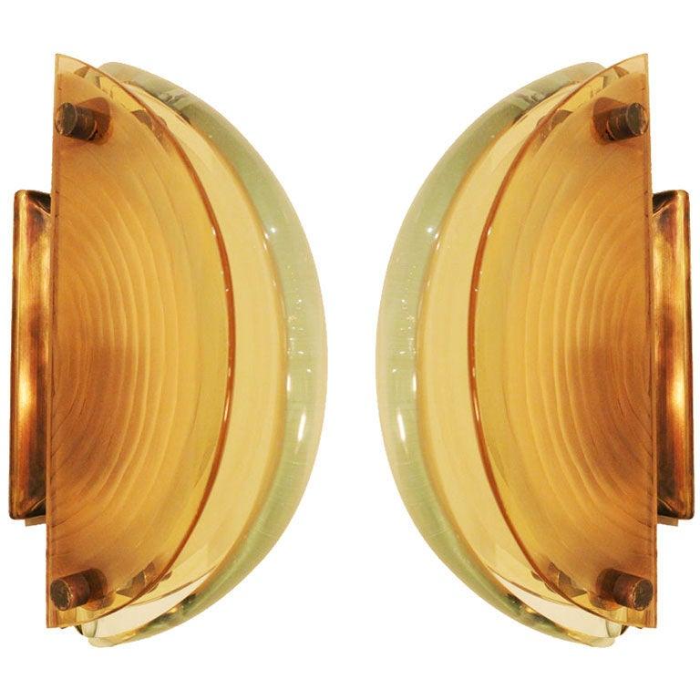 Pair of Fontana Arte Sconces 1
