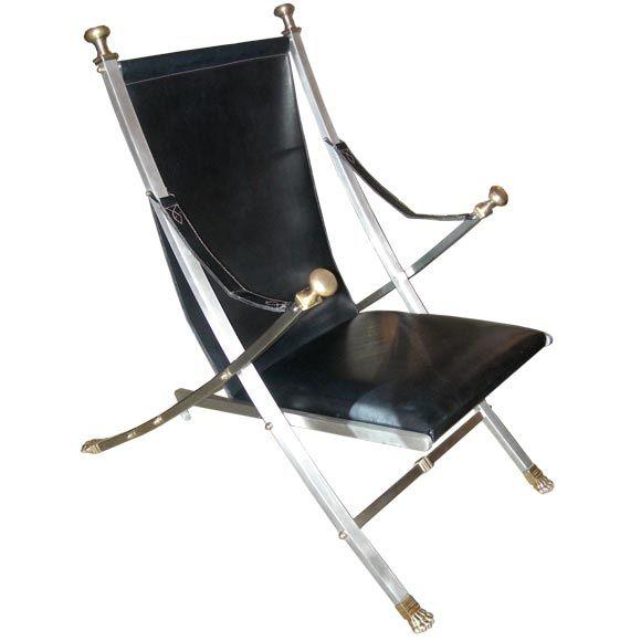 Pair of Maison Jansen Armchairs For Sale 1