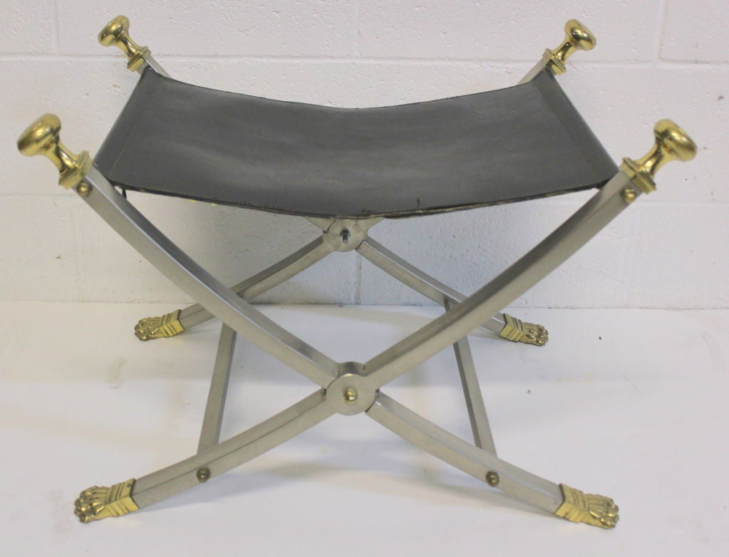 Late 20th Century Maison Jansen Stool For Sale