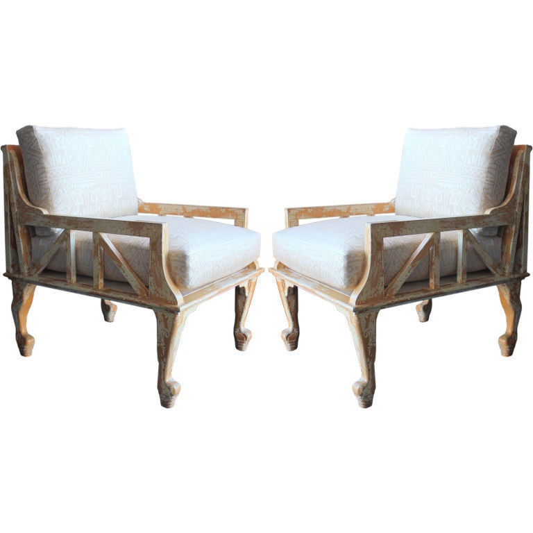 Pair Of John Hutton Quot Thebes Quot Chairs At 1stdibs
